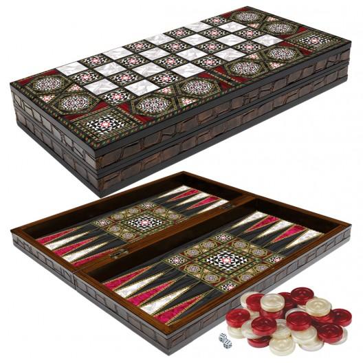 Луксозна дървена табла и шах Pearl
